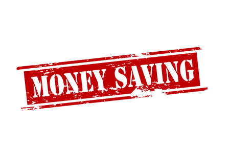 thrift: Rubber stamp with text money saving inside, vector illustration