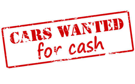 cash: Rubber stamp with text cars wanted for cash inside, vector illustration