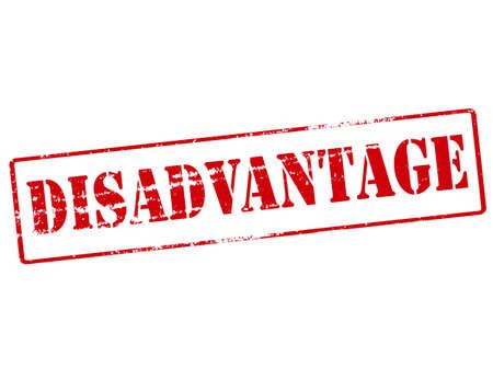 disadvantage: Rubber stamp with word disadvantage inside, vector illustration