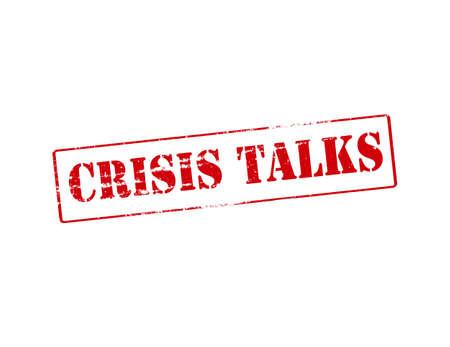 conversaciones: Sello de goma con el texto habla de crisis interior, ilustraci�n vectorial Vectores