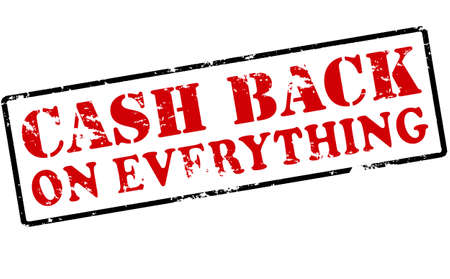 astern: Rubber stamp with text cash back on everything inside, vector illustration