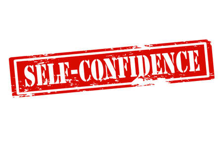 self confidence: Rubber stamp with text self confidence inside, vector illustration