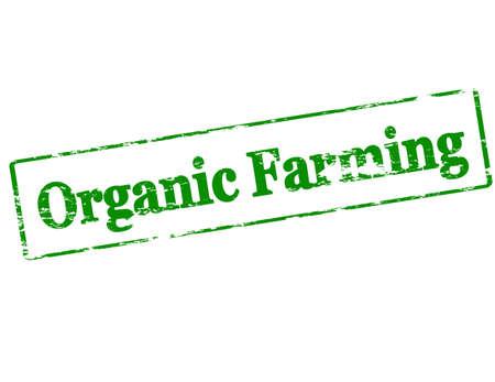 labranza: Sello de goma con el texto de la agricultura ecol�gica en el interior, ilustraci�n vectorial Vectores