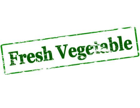 legume: Rubber stamp with text fresh vegetable inside, vector illustration