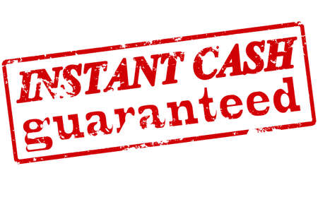 surety: Rubber stamp with text instant cash guaranteed inside, vector illustration