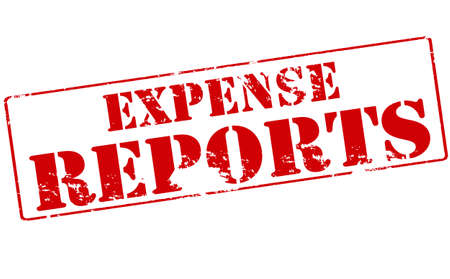 expense: Rubber stamp with text expense reports inside, vector illustration