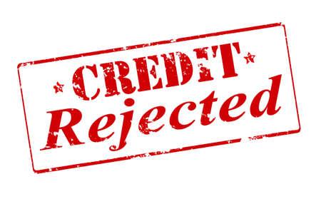 sello: Sello de goma con el texto de crédito rechazada interior, ilustración vectorial Vectores