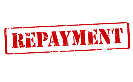 repayment: Rubber stamp with word repayment inside, vector illustration Illustration