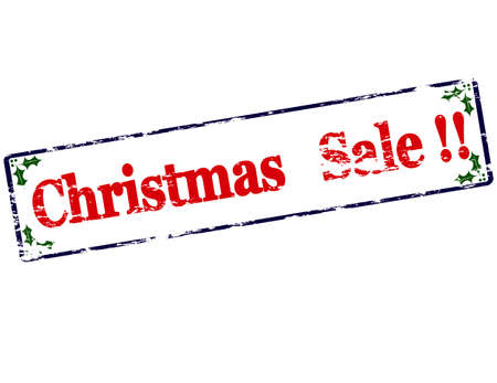treason: Rubber stamp with text Christmas sale inside, vector illustration
