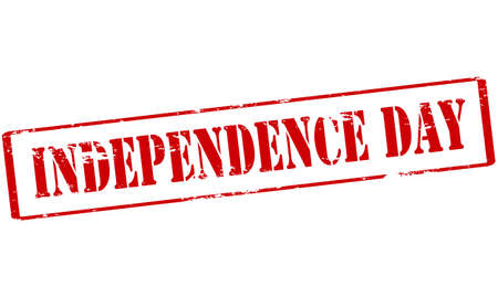independency: Rubber stamp with text Independence day inside, vector illustration