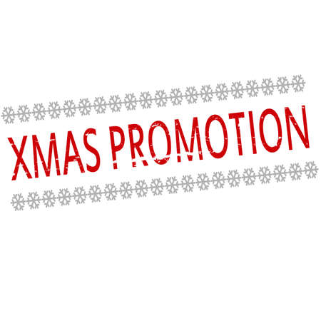 accession: Rubber stamp with text Xmas promotion inside, vector illustration Illustration