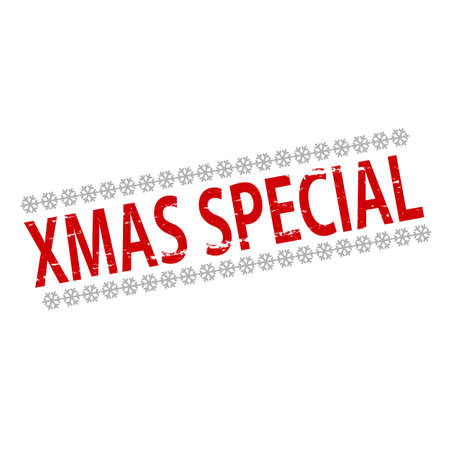 peculiar: Rubber stamp with text Xmas special inside, vector illustration