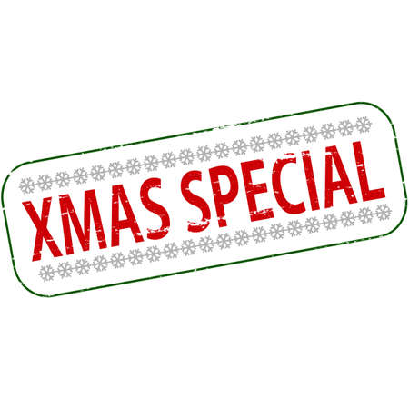 especial: Rubber stamp with text Xmas special inside, vector illustration