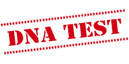 Rubber stamp with text Dna test inside, vector illustration