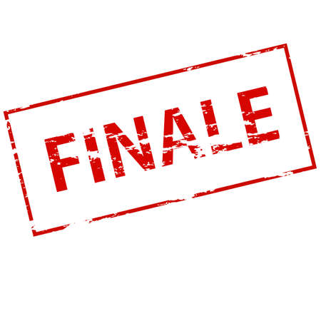 finale: Rubber stamp with word finale inside, vector illustration