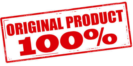 peculiar: Rubber stamp with text original product one hundred percent inside, vector illustration Illustration