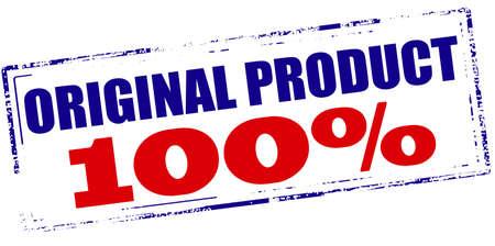 hundred: Rubber stamp with text original product one hundred percent inside, vector illustration Illustration