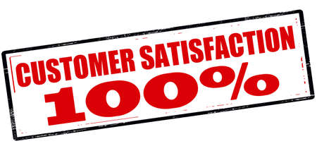 one hundred: Rubber stamp with text customer satisfaction one hundred percent inside, vector illustration