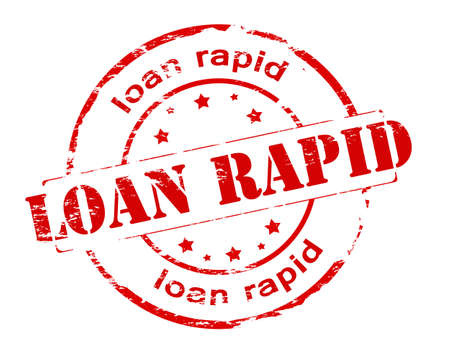 rapid: Rubber stamp with text loan rapid inside, vector illustration
