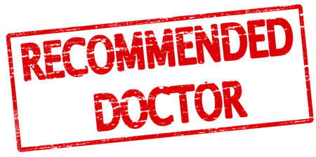 medico: Rubber stamp with text recommended doctor inside, vector illustration Illustration