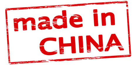 made in china: Rubber stamp with text made in China inside, vector illustration Illustration