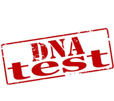 probation: Rubber stamp with text dna test inside, illustration