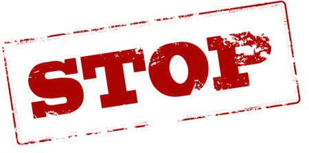 stopping: Rubber stamp with word stop inside, vector illustration Illustration