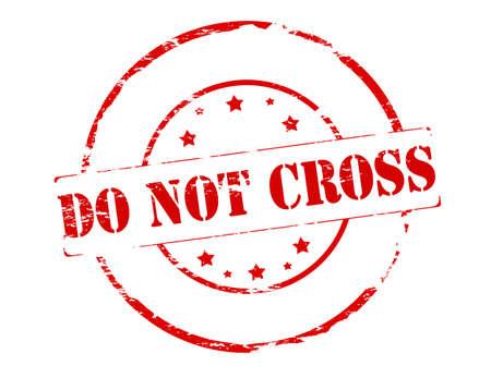 no correr: Sello de goma con el texto no se cruzan en el interior, ilustraci�n vectorial