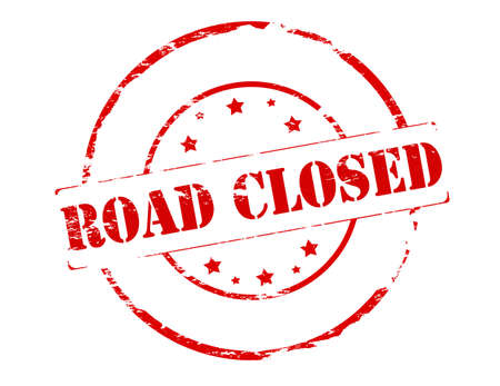 road closed: Rubber stamp with text road closed inside, vector illustration