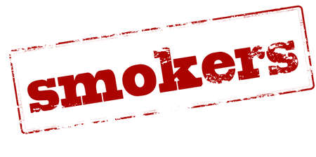 smokers: Rubber stamp with word smokers inside, vector illustration