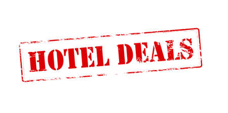 dealings: Rubber stamp with text hotel deals inside, vector illustration Illustration