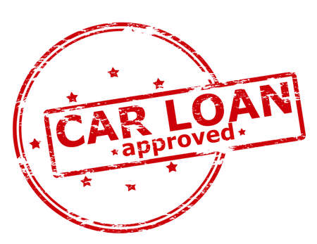 car loan: Rubber stamp with text car loan approved inside, vector illustration