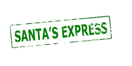 express: Rubber stamp with text Santa express inside, vector illustration
