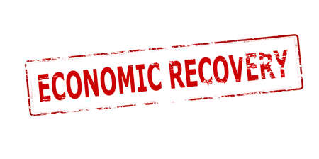 redeeming: Rubber stamp with text economic recovery inside, vector illustration