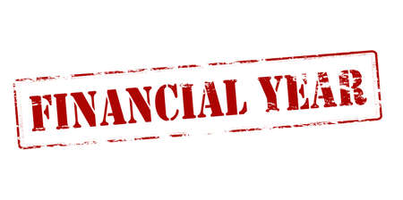 financial year: Rubber stamp with text financial year inside, vector illustration