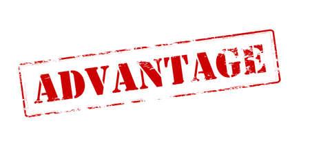 advantage: Rubber stamp with word advantage inside, vector illustration Illustration