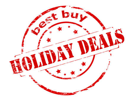 dealings: Rubber stamp with text holiday deals best buy inside, vector illustration Illustration