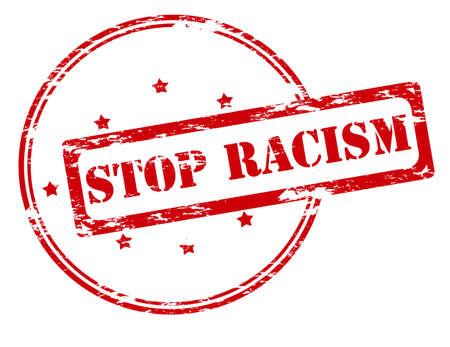 racismo: sello de goma con el racismo parada de texto en el interior, ilustraci�n vectorial Vectores