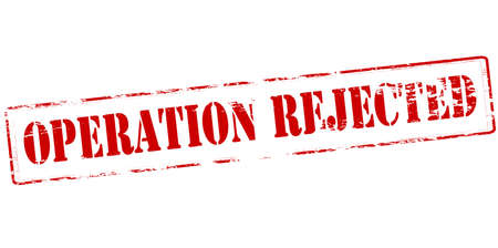 repel: Rubber stamp with text operation rejected inside, vector illustration