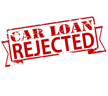 Rubber stamp with text car loan rejected inside, vector illustration