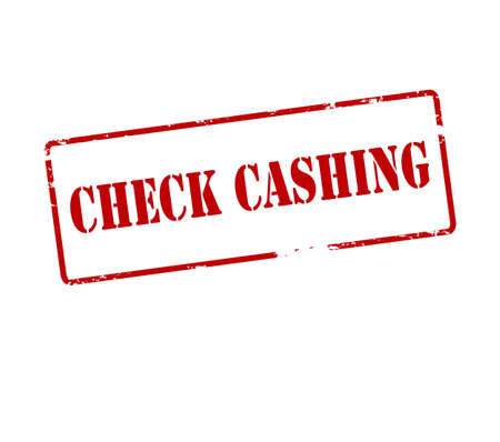 cashing: Rubber stamp with text check cashing inside, vector illustration