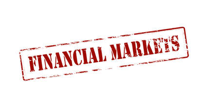 moneyed: Rubber stamp with text financial markets inside, vector illustration