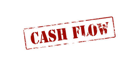 flux: Rubber stamp with text cash flow inside, vector illustration