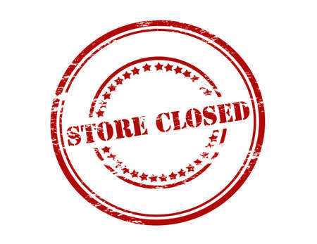 storehouse: Rubber stamp with text store closed inside, vector illustration