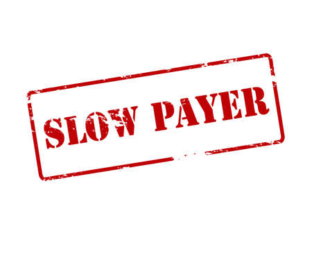 payer: Rubber stamp with text slow payer inside, vector illustration Illustration