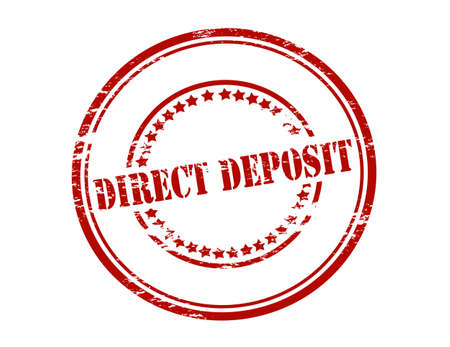 direct: Rubber stamp with text direct deposit inside, vector illustration
