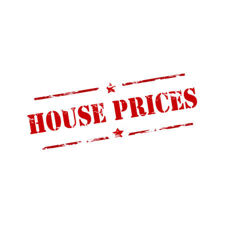 house prices: Rubber stamp with text house prices inside, vector illustration