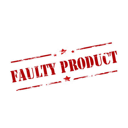 out of order: Rubber stamp with text faulty product inside, vector illustration Illustration