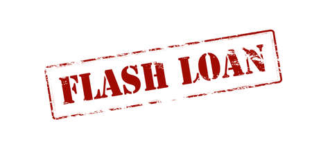 lending: Rubber stamp with text flash loan inside, vector illustration