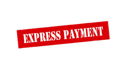 haste: Rubber stamp with text express payment inside, vector illustration Illustration